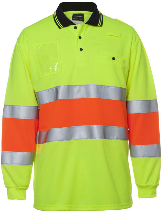 JB's Hi Vis Bio Motion Day/Night Polo Long Sleeve with 3M Tape (6QTDP) - Ace Workwear