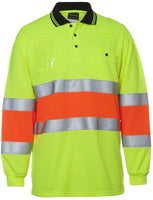 Hi Vis Bio Motion Day/Night Polo Long Sleeve with 3M Tape (6QTDP) - Ace Workwear