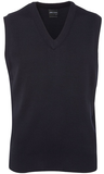 Mens Knitted Vest - Navy