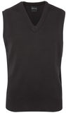 Mens Knitted Vest - Charcoal