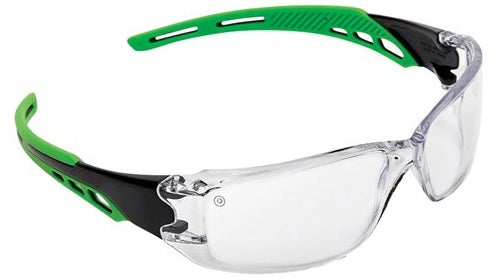 Pro Choice Cirrus Green Arms Safety Glasses A/F Lens - Box of 12 - Ace Workwear