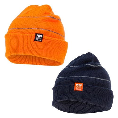 Pro Choice Beanie with Retro-Reflective Stripes - Pack of 5 (BEAN)