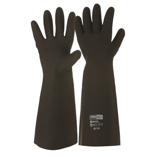 Pro Choice Black Knight® 46cm Rubber Gloves - Carton (48 Pairs) (BK) - Ace Workwear (4423260471430)