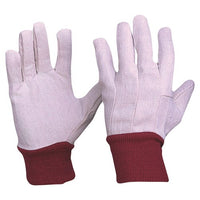 Pro Choice Cotton Drill Red Knit Wrist Gloves Ladies Size - Carton (300 Pairs) (CDR9) - Ace Workwear