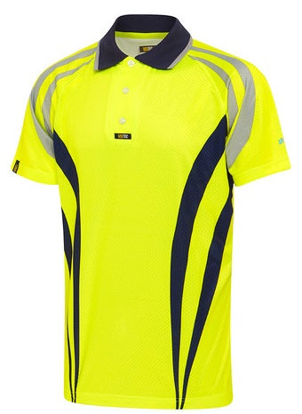 Visitec Hi Vis Charger AIRWEAR Polo Shirt Short Sleeve (CVPAS)