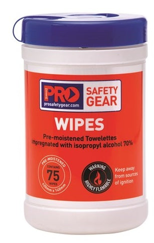Pro Choice Isopropyl Wipes - 75 Wipe Cannister (CW75) - Ace Workwear (4388978819206)
