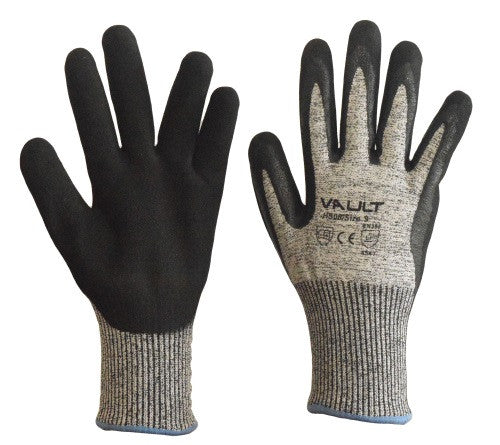 Cut Resistant Level 5 Nitrile Sand Finish Gloves - Pack (12 Pairs) - Ace Workwear