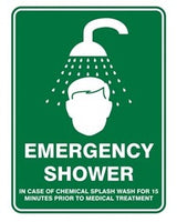 Pratt Emergency Shower Sign (PS2CM) 450mm x 300mm Poly (EEMSH4530P) - Ace Workwear