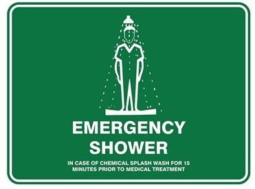 Pratt Emergency Shower Sign (PS2M) 600mm x 450mm Metal (EEMSH6045M) - Ace Workwear