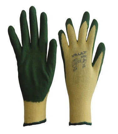 Vault Green Latex Gloves - Pack (12 Pairs) - Ace Workwear