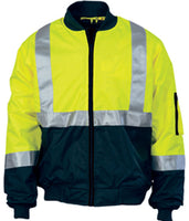 Hi Vis Two Tone Bomber Jacket With CSR Reflective Tape (3762) - Ace Workwear
