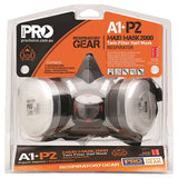 Pro Choice Safety Gear Assembled Half Mask With A1P2 Cartridges (HMA1P2) - Ace Workwear