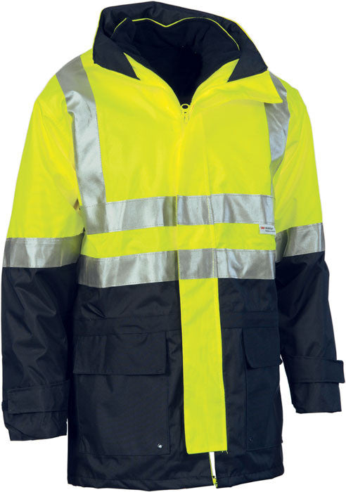 DNC Hi Vis Two Tone 4 in 1 Breathable Jacket with Vest and 3M Reflective Tape (3864) - Ace Workwear (9354683149)