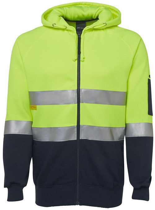 Hi Vis Day & Night Full Zip Fleecy Hoodie (6DNH) - Ace Workwear