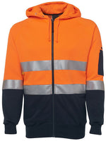 JB's Hi Vis Day & Night Full Zip Fleecy Hoodie - Ace Workwear