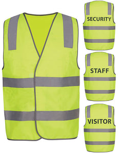 JB's Hi Vis Day & Night Safety Vest Security/Staff/Visitor (6DNS) - Ace Workwear