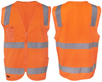 JB's Hi Vis Day & Night Zip Safety Vest - Ace Workwear