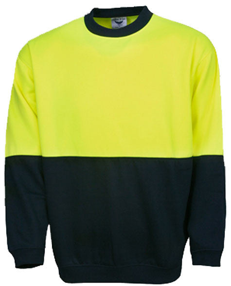 Hi Vis Fleecy Sweat Crew Neck (F81) - Ace Workwear