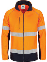 DNC Hi Vis Full Zip Fleecy Sweat Shirt CSR Reflective Tape (3726) - Ace Workwear