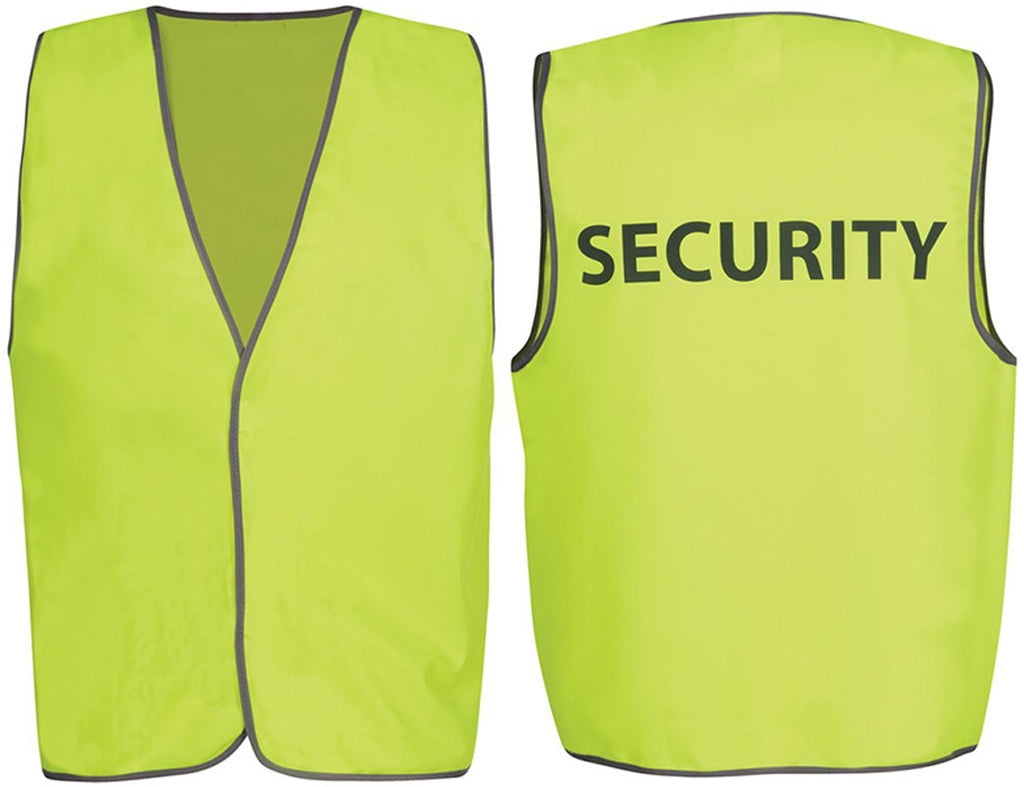 JB's Hi Vis Safety Vest Security/Staff/Visitor (6HVS) - Ace Workwear