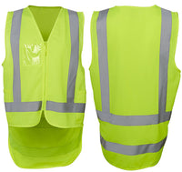 JB's Hi Vis Zip Drop Tail H Pattern Day & Night Safety Vest - Ace Workwear