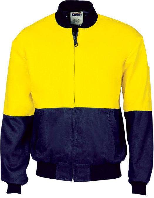 Hi Vis Cotton Bomber Jacket (3757) - Ace Workwear