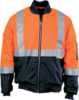 Hi Vis Day & Night Two Tone Flying Jacket with 3M Reflective Tape (261) - Ace Workwear