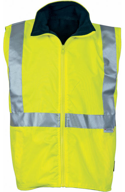 DNC Hi Vis Reversible Vest with 3M Reflective Tape (3865) - Ace Workwear