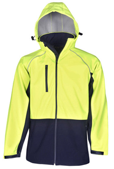 Hi Vis Hooded Soft Shell Day Jackets (J96) - Ace Workwear