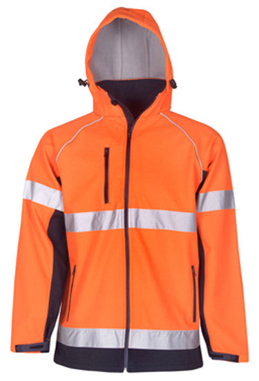 Hi Vis Hooded Soft Shell Day & Night Jackets (J97) - Ace Workwear