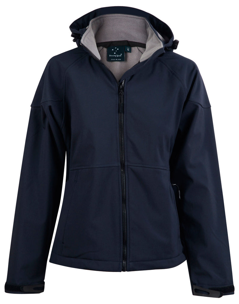 Winning Spirit Aspen Softshell Hood Jacket Ladies - Ace Workwear (4367853879430)