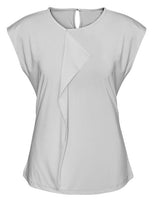 Mia Pleat Knit Ladies Top (K624LS) - Ace Workwear
