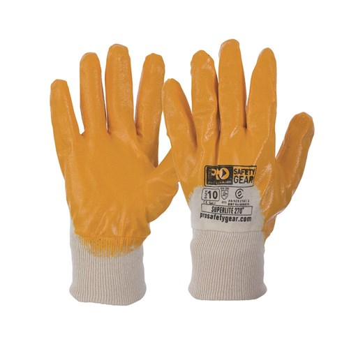 Pro Choice Super-Lite Orange 3/4 Dipped Gloves - Pack (12 Pairs) (NBR) - Ace Workwear