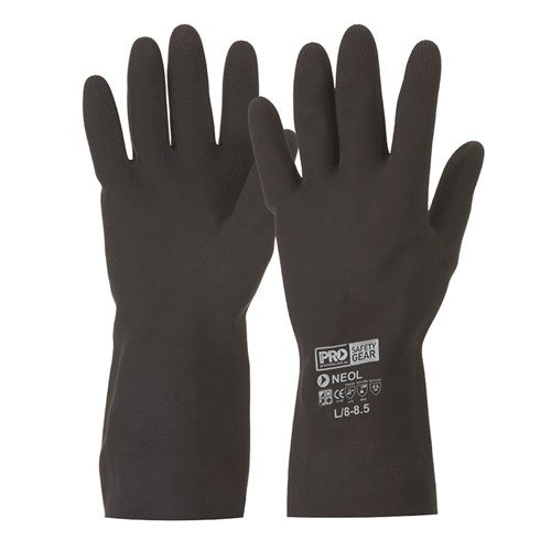 Pro Choice Black 33cm Neoprene Gloves - Pack (12 Pairs) (NEO) - Ace Workwear