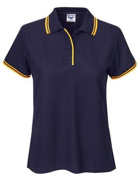 Ladies Pique Polo with Striped Collar and Cuff (P56) - Ace Workwear