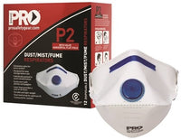 Pro Choice Safety Gear Dust Masks Flat Fold P2+Valve - Pack of 12 (PC2122) - Ace Workwear