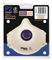 Pro Choice Respirator P2 with Valve - Pack of 3 (PC 321-3)