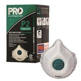 Pro Choice Dust Masks P2 with Valve and Active Carbon Filter - Box (12 Pcs) (PC531)