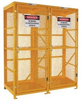PRATT Forklift Storage Cage. 2 Storage Levels Up To 16 Forklift Cylinders. (Comes Flat Packed - Assembly Required) (PSGC16F-FP)