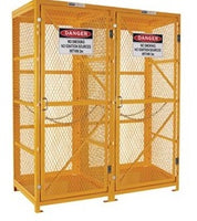 PRATT Gas Cylinder Storage Cage. 1 Storage Level Up To 18 G-Sized Cylinders. (Comes Flat Packed - Assembly Required) (PSGC18V-FP) - Ace Workwear