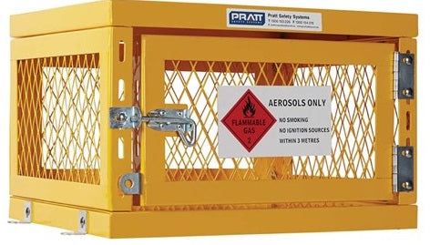 PRATT Aerosol Storage Cage. 1 Storage Level Up To 42 Cans. (Comes Flat Packed - Assembly Required) (PSGC1A-FP)