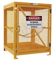 PRATT Forklift Storage Cage. 1 Storage Level Up To 4 Forklift Cylinders. (Comes Flat Packed - Assembly Required) (PSGC4F-FP) - Ace Workwear