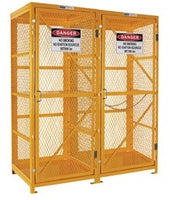 PRATT Forklift & Gas Cylinder Storage Cage. 3 Storage Levels. (Comes Flat Packed - Assembly Required) (PSGC8F9V-FP) - Ace Workwear