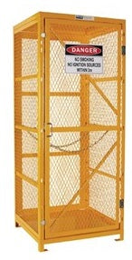 PRATT Gas Cylinder Storage Cage. 1 Storage Level Up To 9 G-Sized Cylinders. (Comes Flat Packed - Assembly Required) (PSGC9V-FP) - Ace Workwear (4426352623750)