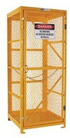 PRATT Gas Cylinder Storage Cage. 1 Storage Level Up To 9 G-Sized Cylinders. (Comes Flat Packed - Assembly Required) (PSGC9V-FP) - Ace Workwear