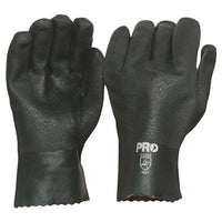 Pro Choice 27cm Green Double Dipped PVC Gloves Large - Pack (12 Pairs) (PVC27DD)