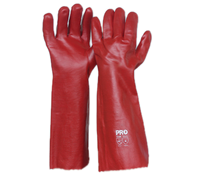 Pro Choice Red PVC Long Gloves - Pack (12 Pairs) (PVC45) - Ace Workwear