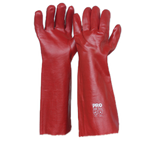 Red PVC Long Gloves - Carton (72 Pairs) - Ace Workwear