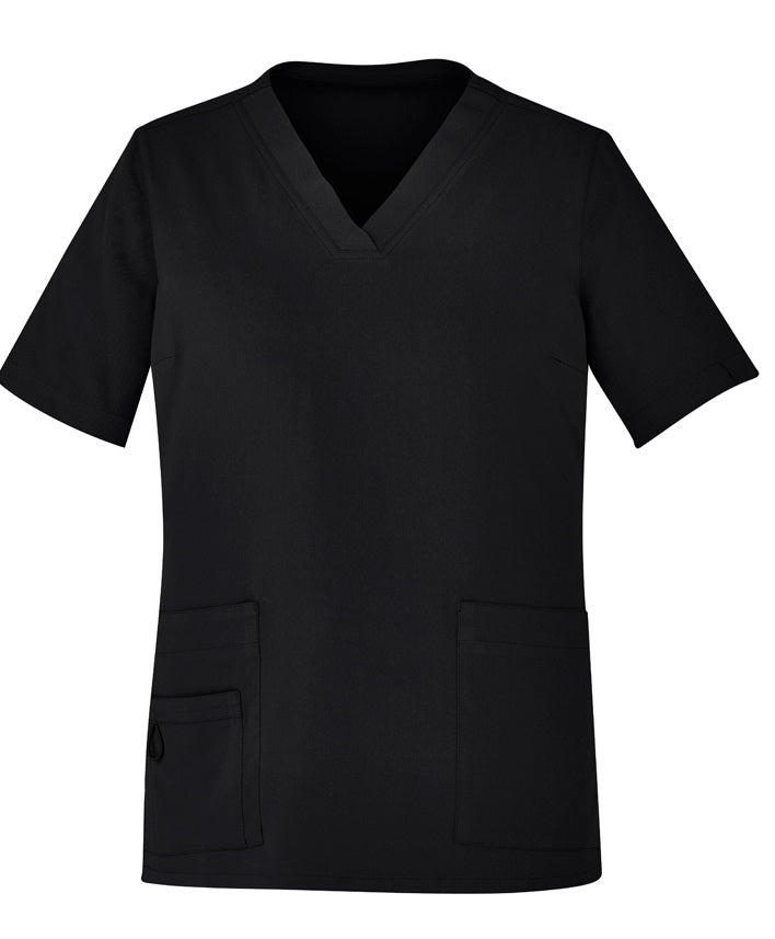 Biz Care Womens Easy Fit V-Neck Scrub Top - Ace Workwear