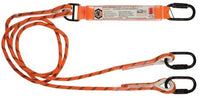 LINQ Double Leg Kernmantle 2M Shock Absorb Rope Lanyard with Hardware KD X3 (RLO2KDKD)